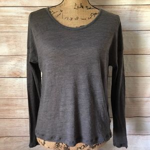 ATHLETA Wool Textured Base Layer High Low Top S
